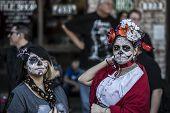 Women In Dia De Los Muertos Makeup