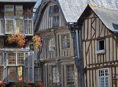 Medieval Timber-framed Buildings In Dinan