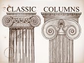 Classical column background set.