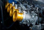 Carburettors Of Classic Racing Car Engine