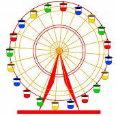 pic of ferris-wheel  - Silhouette atraktsion colorful ferris wheel - JPG