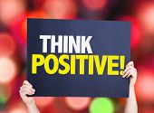 picture of think positive  - Think Positive card with bokeh background - JPG