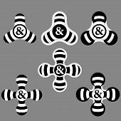 picture of ampersand  - abstract black and white icons and ampersand - JPG
