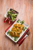 image of meatball  - vegetarian meatballs prepared with potatoes and lentils  - JPG