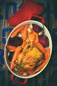 pic of root-crops  - The chicken baked with root crops - JPG