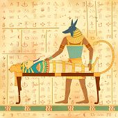 picture of human pyramid  - illustration of Egyptian art of human engraved on vintage wall - JPG