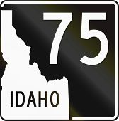 stock photo of state shapes  - United States Idaho State Highway shield - JPG