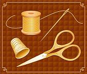 Conjunto de tesouras de ouro antigo