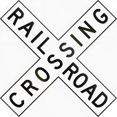 foto of railroad-sign  - United States traffic sign  - JPG
