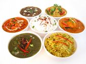 pic of indian food  - Assortment of indian dishes - JPG