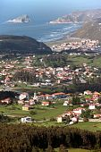 Coast Village In Spain