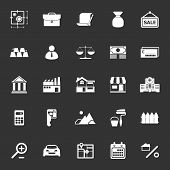 image of deed  - Mortgage and home loan icons on gray background stock vector - JPG