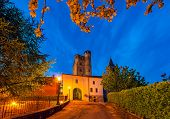 picture of early morning  - Early morning in small italian town of Serralunga d - JPG