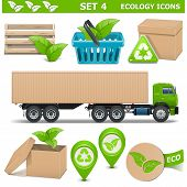 picture of ecology  - Vector Ecology Icons Set 4 including crate - JPG