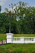 picture of balustrade  - Beautiful white balustrade in the old Park - JPG