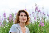 foto of willow  - Portrait of a woman near willow - JPG