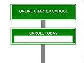 Online Charter School Business Sign