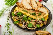 pic of french-toast  - Omelet with mushrooms lamb - JPG