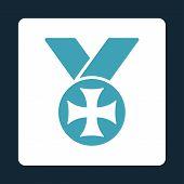 pic of maltese-cross  - Maltese medal icon from Award Buttons OverColor Set - JPG