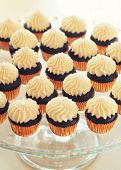 image of buffet  - Delicious sweet buffet with cupcakes on the plate - JPG