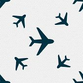 stock photo of fighter plane  - Plane icon sign - JPG