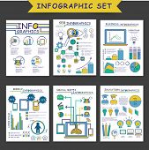 ������, ������: Set of different infographic templates as SEO Infographics Business Infographics Mobile Infographi