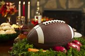 Thanksgiving Football Pigskin Instead Of Turkey Dinner