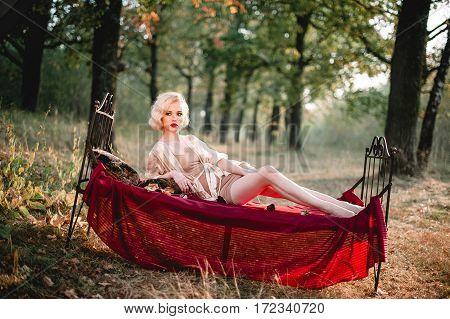 Beautiful And Elegant Blonde Woman