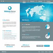 Web site design template 7, vector