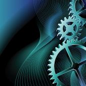 Vector gears background with copy space