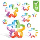 Vector abstractos 3D icons 1