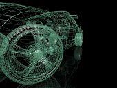 Carros de modelo 3D