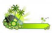 Tropical Beach Banner-Green