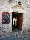 Greek Café Entrance