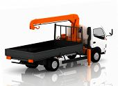 foto of tow-truck  - Tow truck of cars - JPG