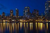 Vancouver City Skyline at False Creek