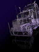 3D cabine de caminhão