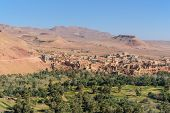 Постер, плакат: View City Of Tinghir City And Oasis Morocco