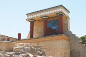picture of minos  - the reconstructed north entrance at knossos - JPG