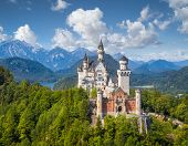 Classic View Of Neuschwanstein Castle, Bavaria, Germany poster