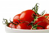 Prato com tomates-cereja (Horizontal) com Clipping Path