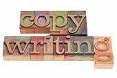 Copywriting Word In Letterpress Type