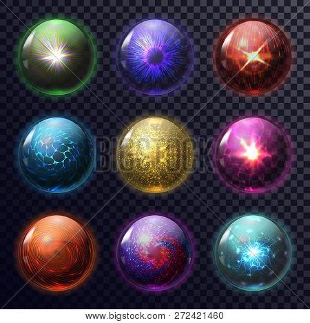 Set Of Isolated Magic Balls