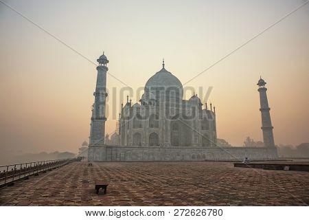 Agra India White Marble Taj