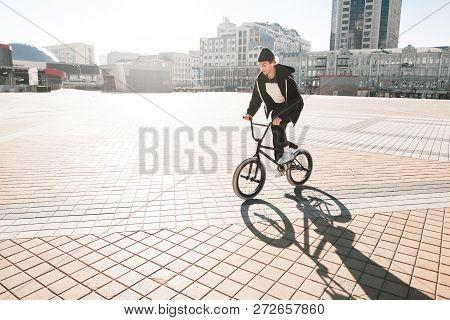 Bmx Cyclists Ride A Bike