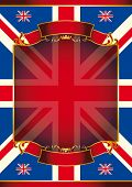 Union Jack. A patriotic background for your message