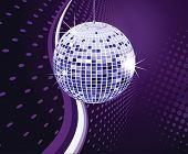 abstract background Vector illustration disco ball