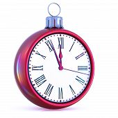 New Years Day 12 Clock Face Last Hour Midnight Time Countdown poster