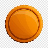 Tasty Round Biscuit Icon. Cartoon Of Tasty Round Biscuit Vector Icon For Web Design poster
