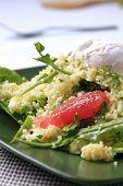 Delicious cous-cous salad closeup